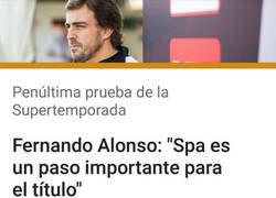 Enlace a El Spa es clave para Fernando alonso