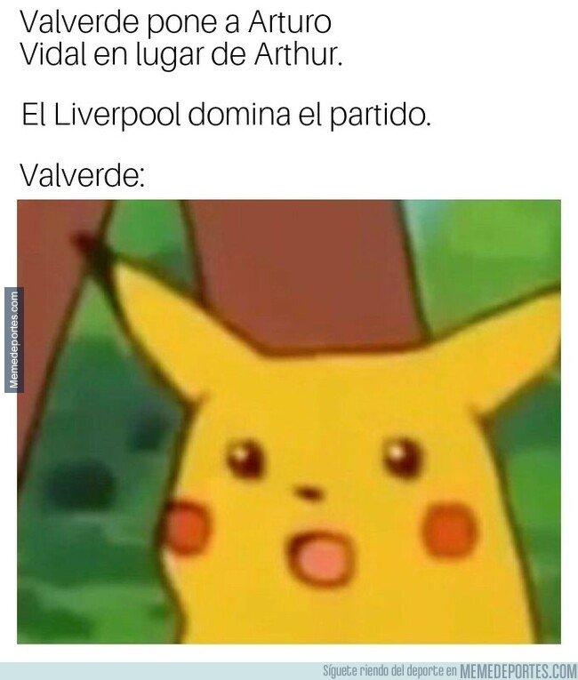 1073255 - Valverde le tuvo mucho respeto al Liverpool con su alineación