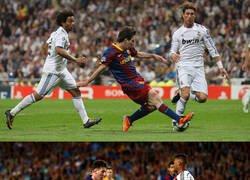 Enlace a Messi deja otra obra de arte en unas semifinales de Champions
