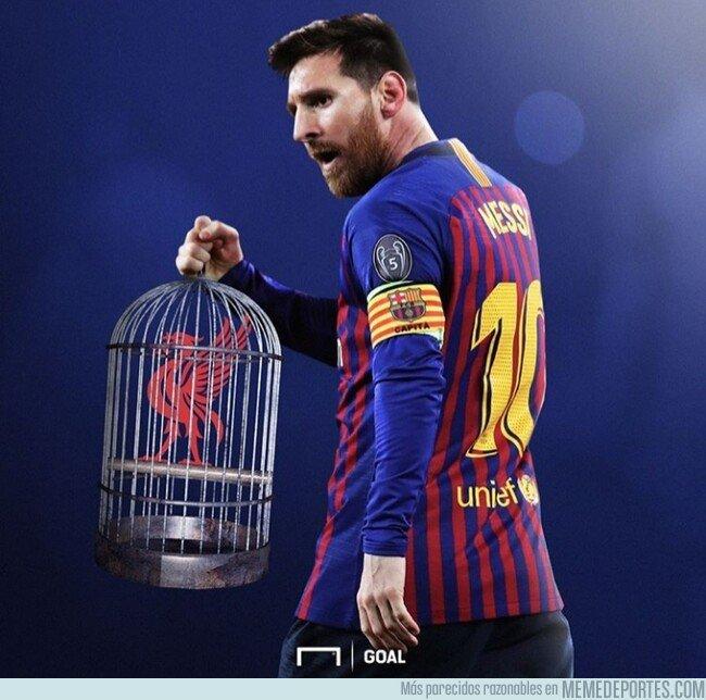1073263 - Messi enjauló al Liverpool, por @goalglobal