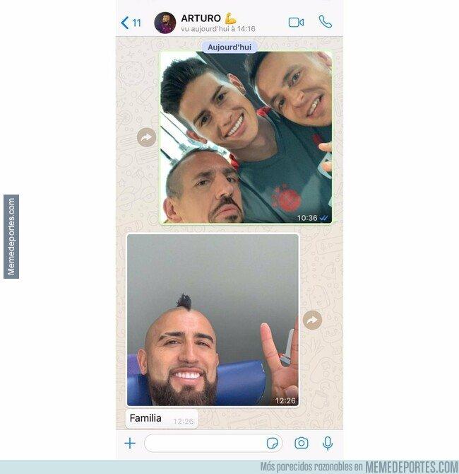 1073340 - Ribéry revela el whatsapp de apoyo que le mandó a Vidal desde Munich, deseándole levantar la copa por 'la banda'