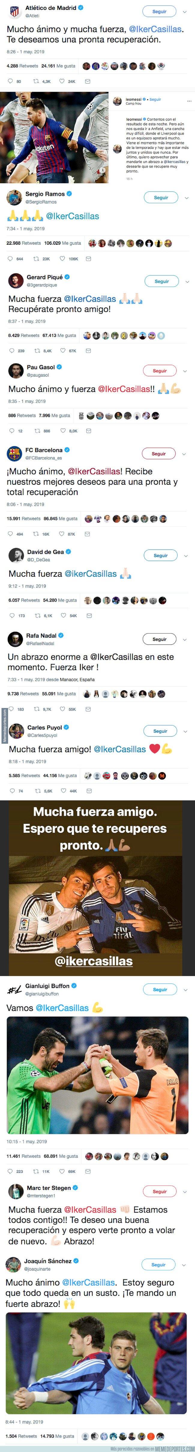 1073362 - Los mensajes de ánimo que recibió Iker Casillas por parte de todo el mundo del deporte