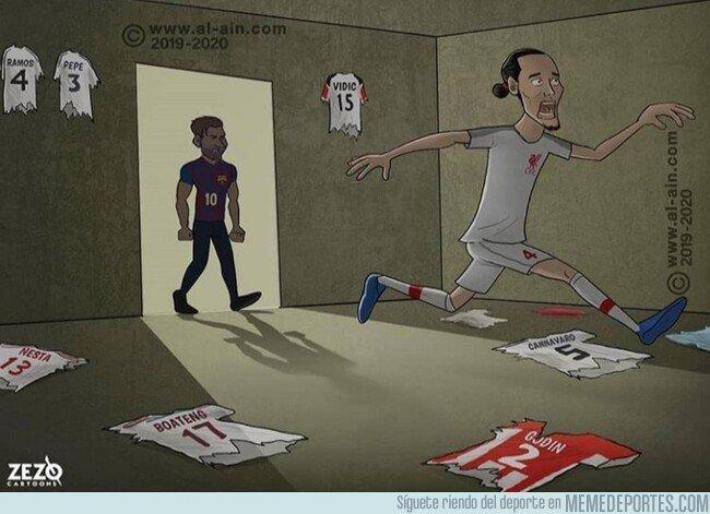 1073401 - Messi acaba con el mejor central del mundo, por @zezocartoons