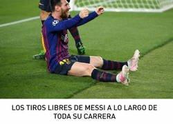 Enlace a Los tiros libres de Messi a lo largo de su carrera