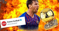 Enlace a France Football le da un consejo a Messi para ganar su sexto balón de oro y les caen hostias como panes