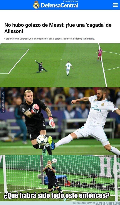 1073435 - La última: El golazo de Messi fue una 'cagada' de Alisson