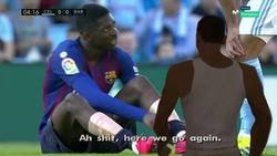 Enlace a ¡Dembelé lesionado otra vez!