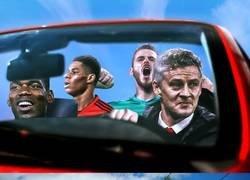 Enlace a El United, matemáticamente fuera de la champions. Ole's at the wheel