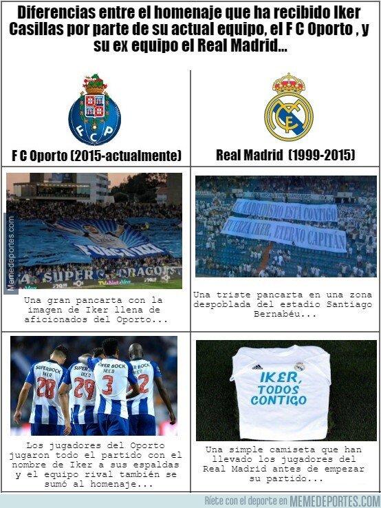 1073603 - Diferencias en el homenaje a Iker Casillas entre el Oporto y el Real Madrid...