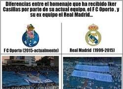 Enlace a Diferencias en el homenaje a Iker Casillas entre el Oporto y el Real Madrid...