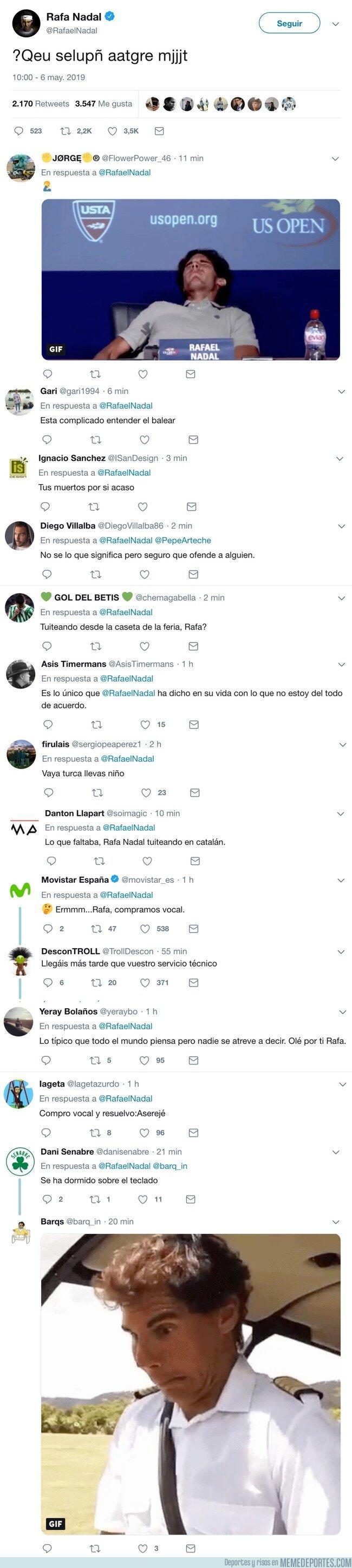 1073657 - Rafa Nadal sube esto a twitter... y hay varias teorías
