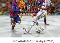 Enlace a Le recuerdan a Boateng cuando Messi le dejó sentado y éste le lanza un dardo al argentino