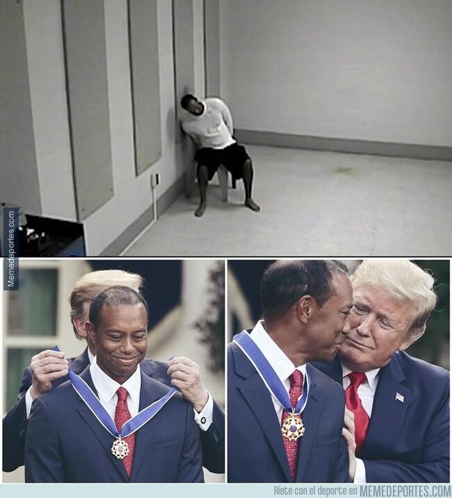 1073743 - Desde lo más bajo... Tiger Woods recibió la medalla de la Libertad en la Casa Blanca