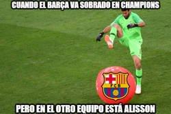 Enlace a Alisson Becker, la pesadilla del Barça