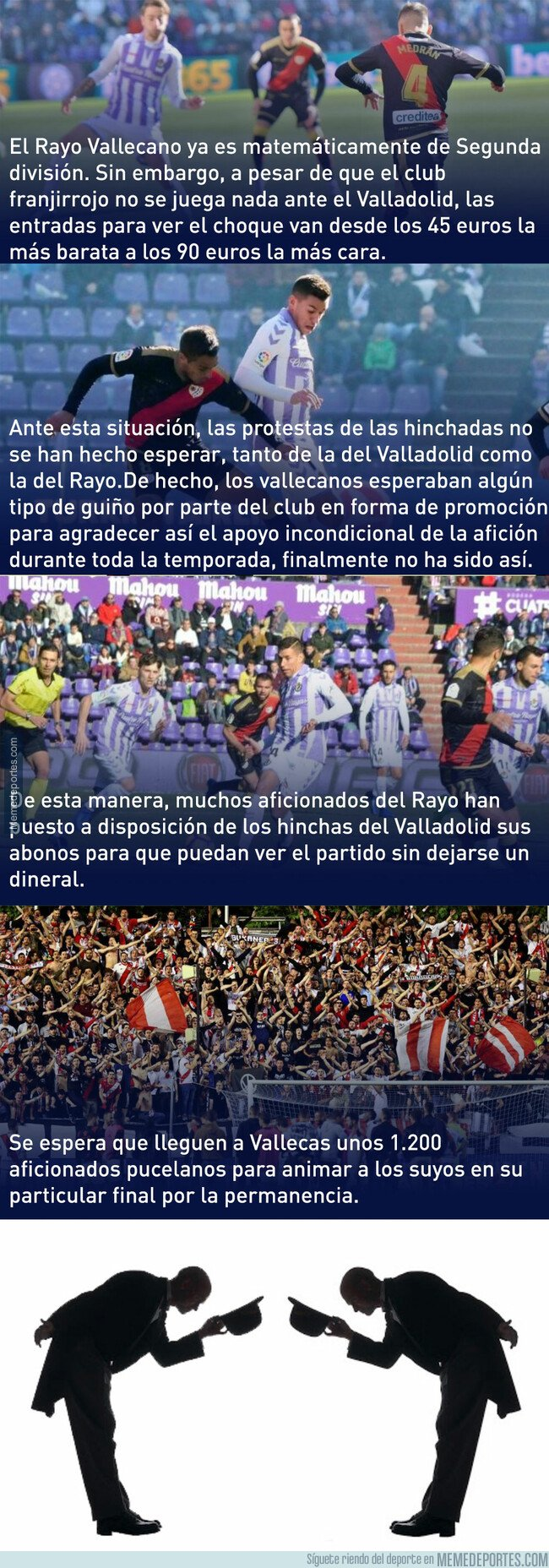 1074583 - El tremendo gesto de los hinchas del Rayo Vallecano con los del Valladolid