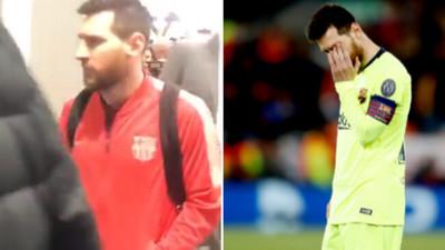 1074591 - Lo que Messi dijo a un grupo de aficionados blaugrana que le recriminaron la eliminación