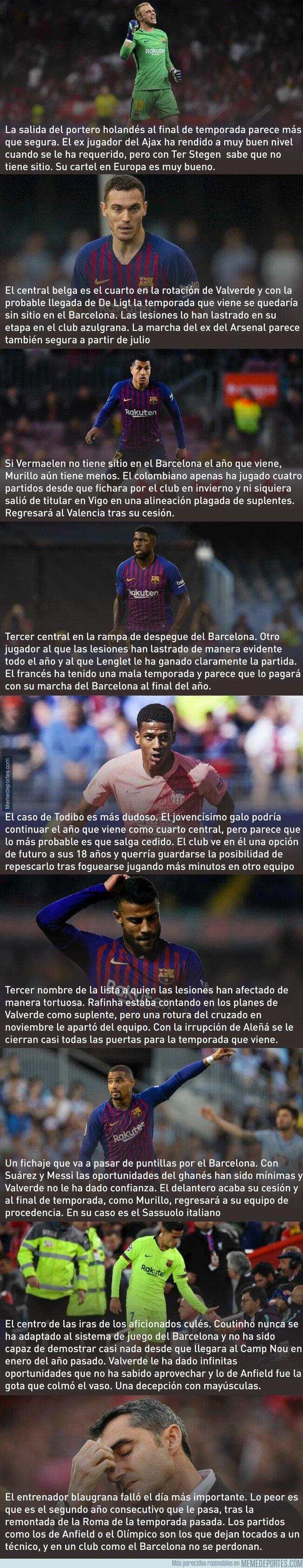 1074593 - Según los rumores, éstas pueden ser las 9 bajas del Barça este año