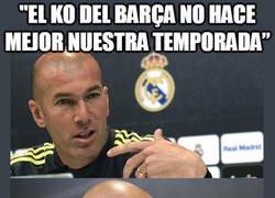 Enlace a Zidane lo tiene claro, la temporada no mejora pero...
