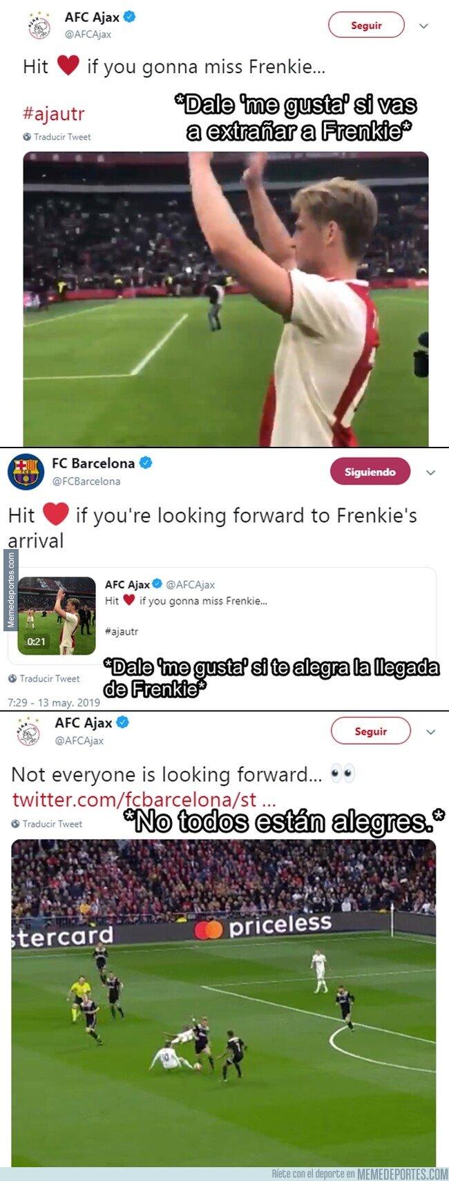 1074915 - La respuesta del Ajax en una épica conversación con el Barça