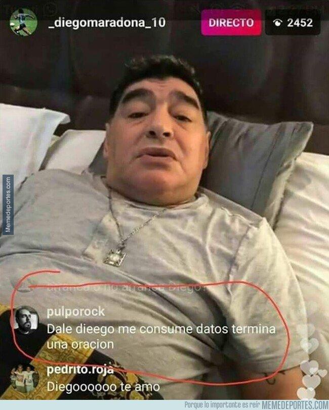 1074964 - Qué suspense ver hablar a Maradona
