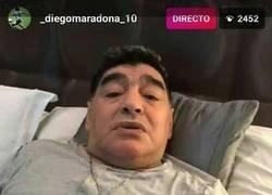 Enlace a Qué suspense ver hablar a Maradona