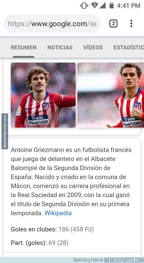 1075043 - Wikipedia ya dice el nuevo equipo de Griezman