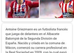 Enlace a Wikipedia ya dice el nuevo equipo de Griezman