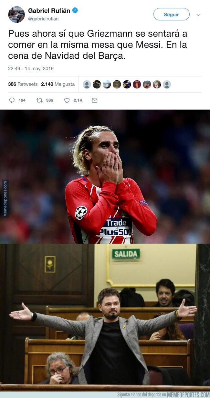 1075185 - EL gran zasca de Gabriel Rufián a Griezmann comparándolo con Messi