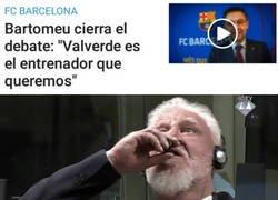 Enlace a Bartomeu ratifica a Valverde y el culé se quiere quitar la vida