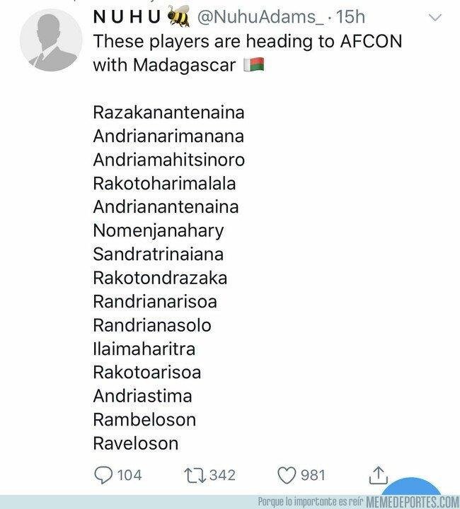 1075265 - Actividad de riesgo este verano: narrar a la selección de Madagascar en la Copa África, por @aitorlagunas