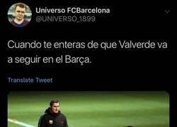 Enlace a Valverde continúa como entrenador del Barça
