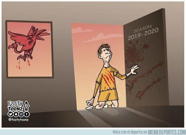 1075452 - El Liverpool hizo la segunda equipación del Barça, por @footytoonz
