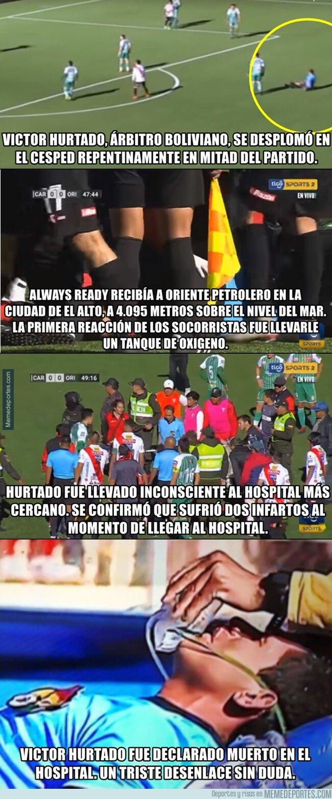 1075585 - En Bolivia un árbitro sufrió un infarto mientras dirigía a mas de 4 mil metros de altura