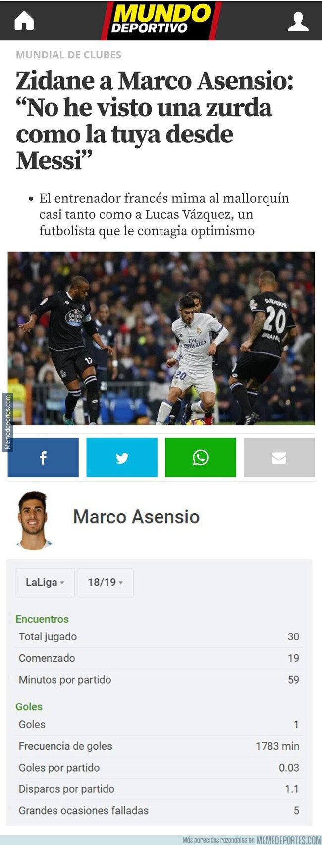 1075632 - El dato demoledor de Asensio que deja en muy mal lugar su temporada con el Real Madrid