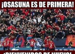 Enlace a Osasuna ya es nuevo equipo de primera
