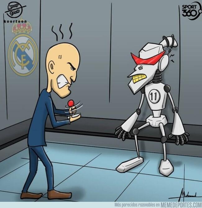 1075857 - El 'robot' Bale se ha averiado para Zidane, por @koortoon