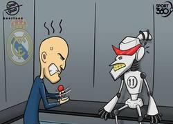 Enlace a El 'robot' Bale se ha averiado para Zidane, por @koortoon