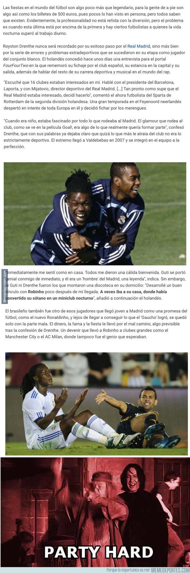 1075864 - Drenthe desvela que jugador del Real Madrid convirtió su casa en una discoteca