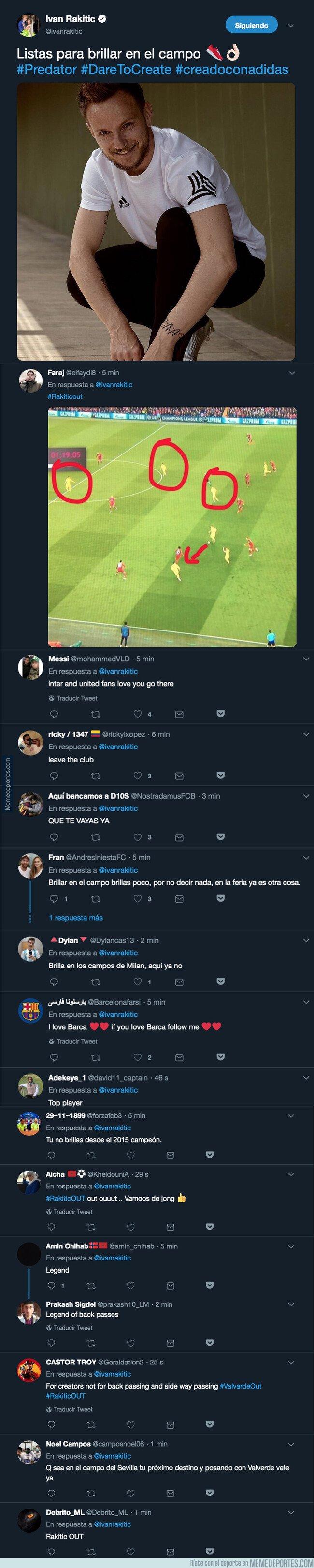 1075897 - Rakitic escribe un tuit antes de la final de Copa del Rey y todos los culés cargan contra él sin piedad