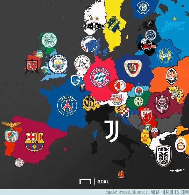 1075967 - El mapa de los campeones de las ligas europeas