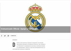 Enlace a Comunicado oficial del Real Madrid