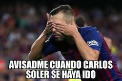 Enlace a Jordi Alba va a tener pesadillas con Soler todo el mes