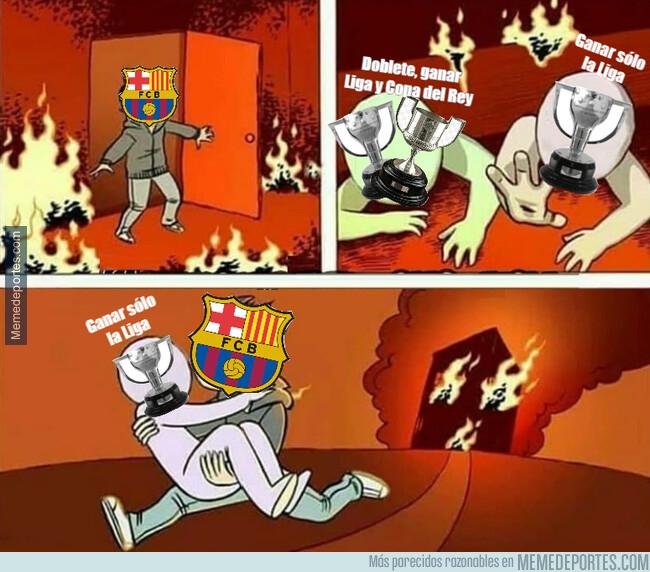 1076205 - El Barça de optar a ganar el doblete ha pasado sólo a ganar un título, la Liga