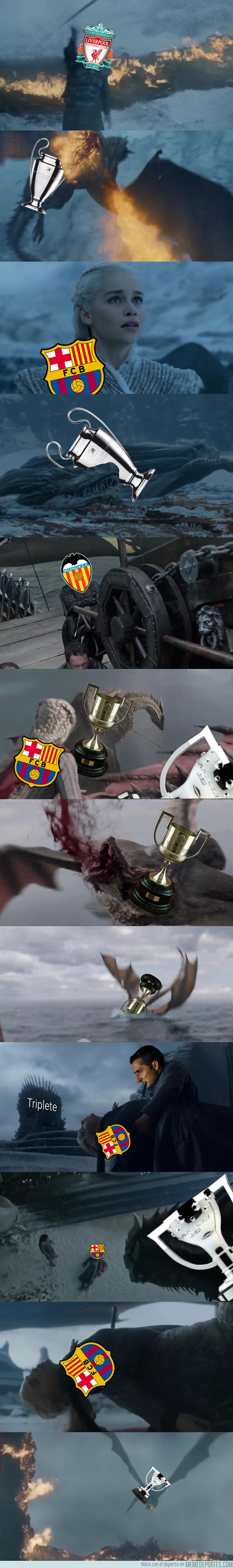 1076218 - El Barça perdió sus títulos como Daenerys perdió a sus dragones ¡ALERTA SPOILER!