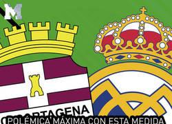 Enlace a Polémica máxima con esta medida que ha tomado el Cartagena contra los aficionados del Real Madrid