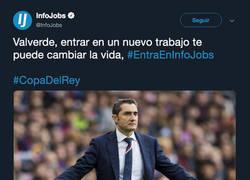 Enlace a Infojobs tiene un mensaje para Valverde