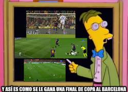 Enlace a El Valencia solo ha necesitado un intento para ganarle una final de Copa al Barcelona