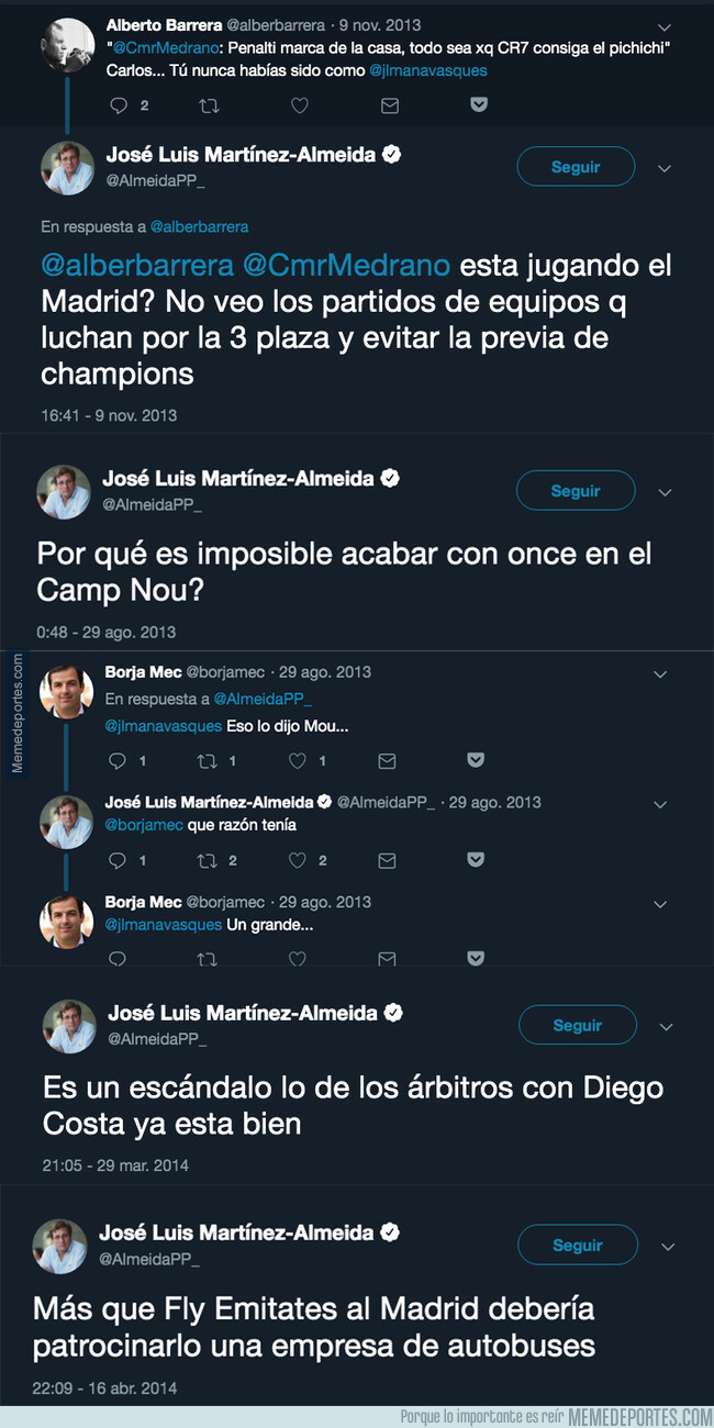 1076388 - Los polémicos tuits del pasado de Martínez-Almeida, el nuevo alcalde de Madrid