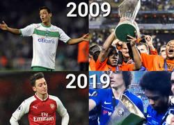 Enlace a Willian volvió a ganarle la Europa League a Özil 10 años después
