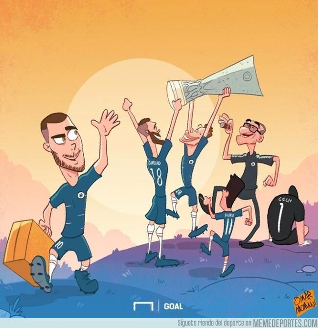 1076616 - Hazard dejó un título europeo antes de irse, por @goalglobal